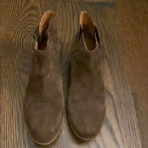 Lucky Brand brown suede boots